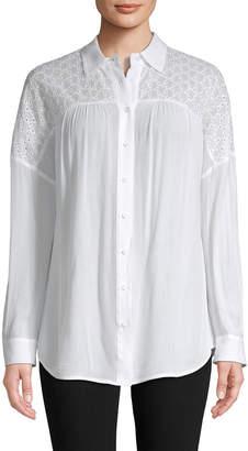 Rebecca Minkoff Eyelet Embroidery Shirt