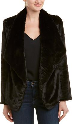 Lavender Brown Draped Coat