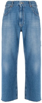MM6 MAISON MARGIELA High-Rise Cropped Jeans