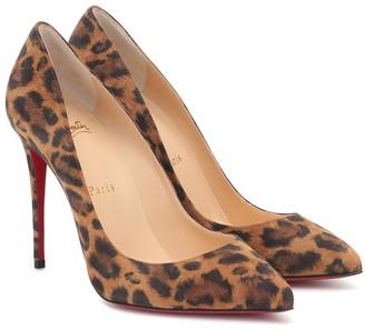 Christian Louboutin Pigalle 100 leopard suede pumps