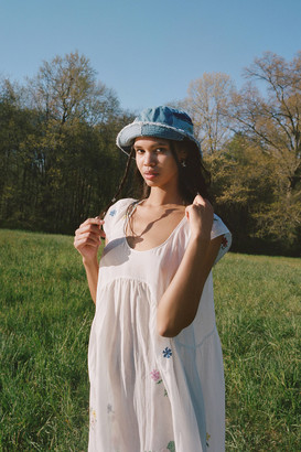 Urban Outfitters Frayed Patchwork Bucket Hat