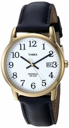 Timex Men's T2H291 Easy Reader 35mm Black Leather Strap Watch
