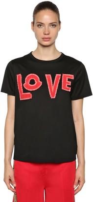 MONCLER GENIUS Love Cotton Jersey T-Shirt W/ Patches