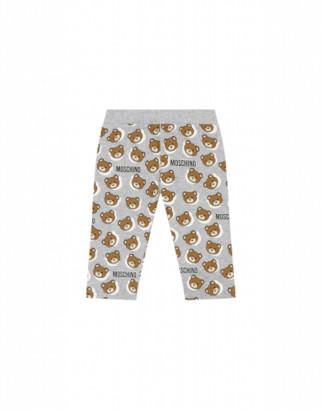 Moschino Teddy Shadow Fleece Trousers Unisex Grey Size 6/9m It