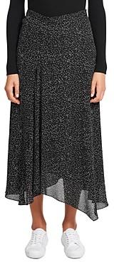 Theory Printed Asymmetric Silk Skirt