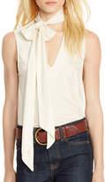 Polo Ralph Lauren Jersey Tie-Front Shirt
