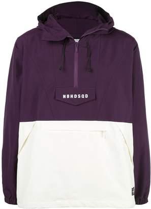 Neighborhood two-tone overhead hooded jacket