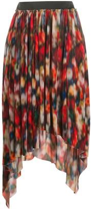 Frankie Morello Asymmetric Plisse Skirt