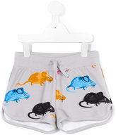 Mini Rodini Mr Mouse sweatshorts - kids - Organic Cotton/Spandex/Elastane - 9 yrs