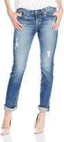 Big Star Women's Kate Mid Rise Straight Leg Jean In 6 Years Warwick