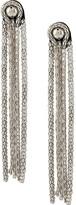 Christopher Kane chain fringe leather earrings