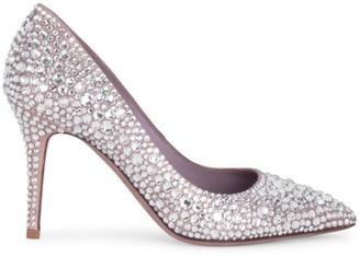 Valentino Moon Flow Crystal-Embellished Satin Pumps