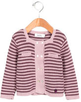 Christian Dior Girls' Striped Double-Breasted Cardigan
