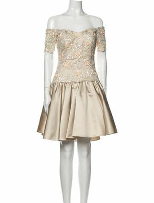 Joanna Mastroianni Off-The-Shoulder Mini Dress