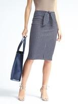 Banana Republic Stripe Tie-Waist Pencil Skirt