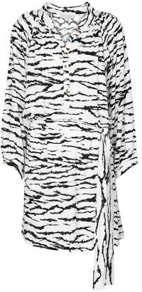 Melissa Odabash Amy tiger-print minidress