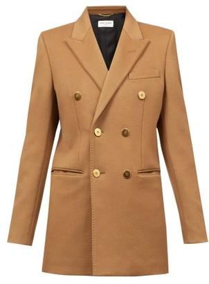Saint Laurent Double-breasted Cashmere-flannel Jacket - Camel