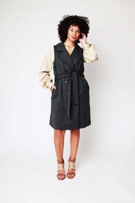 Shegul Nesly Vest Dress in Gray Size 12-14