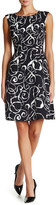 Anne Klein Printed Crepe Drop Waist Dress