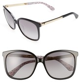 Kate Spade Women's Mackenzee 57Mm Sunglasses - Black/ Pattern Red