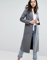 Helene Berman Edge To Edge Lightweight Wool Blend Duster Coat