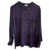 Chanel Purple Silk Top for Women Vintage