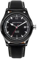 Jack Mason Brand Men's Brand Nautical Italian Leather Strap 42mm Watch