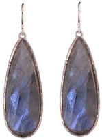 Irene Neuwirth Rose Cut Labradorite Teardrop Earrings - Rose Gold