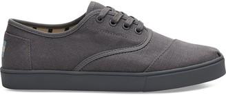 Toms Grey Canvas Cordones Men's Sneakers