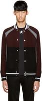 Givenchy Burgundy & Black Wool Cardigan
