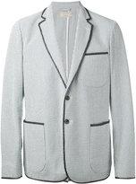MAISON KITSUNÉ patch pockets striped blazer - men - Cotton - 46