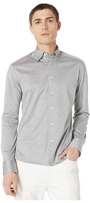 Eton Casual Fit Jersey Long Sleeve (Grey) Men's Clothing