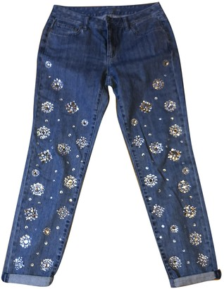 Michael Kors Blue Cotton Jeans for Women