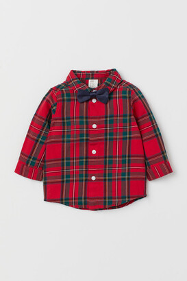 H&M Shirt and Bow Tie - Red
