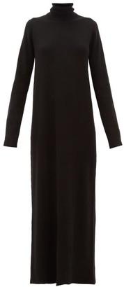 Raey Roll-neck Ribbed Cashmere Dress - Black
