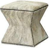 Massoud Furniture Althea Ottoman - Gray Brindle