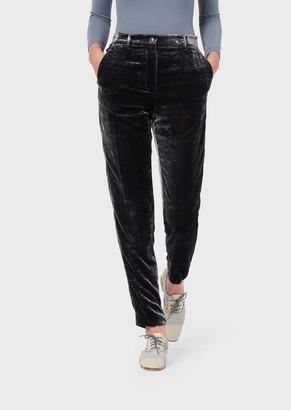 Giorgio Armani Slim-Fit Trousers In Velvet