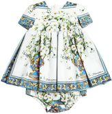 Dolce & Gabbana Maiolica Poplin Dress & Diaper Cover