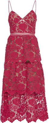 Self-Portrait Lace Pink Dress