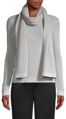 Eileen Fisher Metallic Wool Scarf