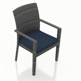 Hobbs Patio Dining Chair with Cushion Rosecliff Heights Color: Spectrum Peacock