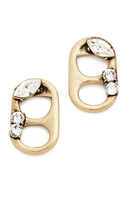 Marc Jacobs Strass Soda Lid Stud Earrings
