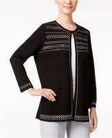 Alfred Dunner Theater District Studded Cardigan