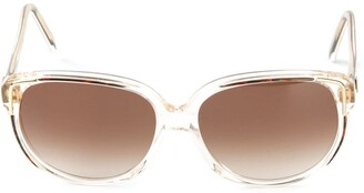 Givenchy Pre Owned Round Frame Sunglasses