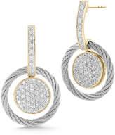 Alor Pave Diamond Cable Drop Earrings
