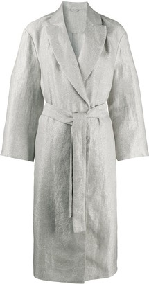 Brunello Cucinelli Metallic Belted Coat
