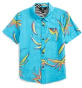 Volcom Toddler Boy's Motel Floral Short Sleeve Woven Shirt
