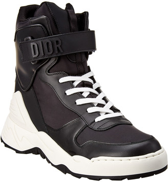 Christian Dior Jumper Leather High-Top Sneaker