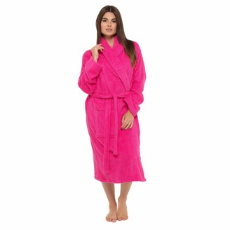 Style It Up Womens Ladies Towelling Bath Robe Dressing Gown 100% Cotton Terry Spa Soft Warm Wrap with Hood and No Hood (Small