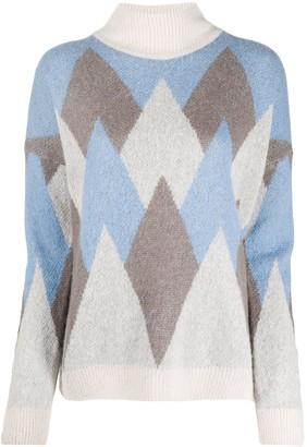 Peserico Rombo roll-neck sweater